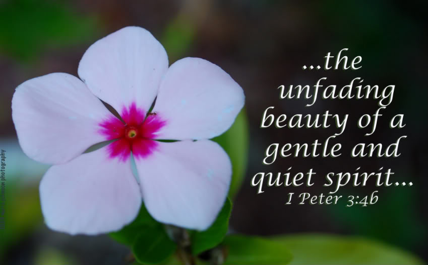 The beauty of a gentle and quiet spirit…